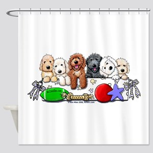 McDoodles Nursery Shower Curtain