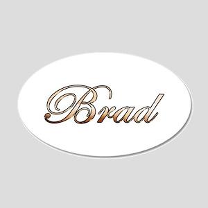 Brad 20x12 Oval Wall Decal