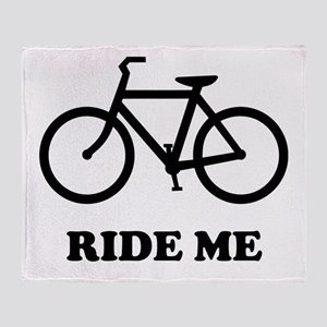 Bike ride me Throw Blanket