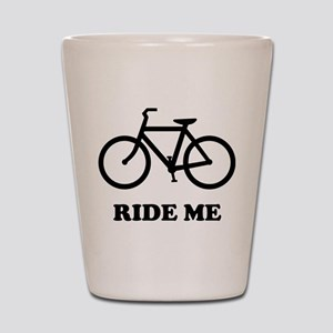 Bike ride me Shot Glass