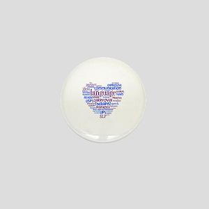 SLP Heart - Blue and Purple Mini Button
