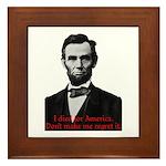 Abraham Lincoln's American Pride Framed Tile