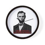 Abraham Lincoln's American Pride Wall Clock