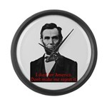 Abraham Lincoln's American Pride Large Wall Clock