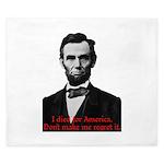 Abraham Lincoln's American Pride King Duvet