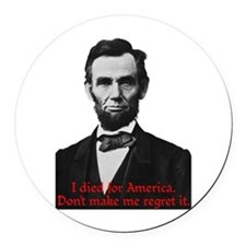 Abraham Lincoln's American Pride Round Car Magnet