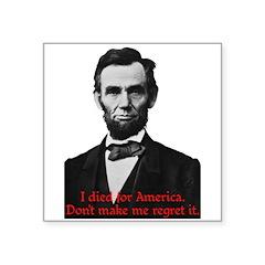 Abraham Lincoln's American Pride Sticker