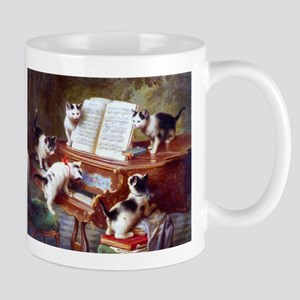 Cats on a Piano; Vintage Poster Mugs