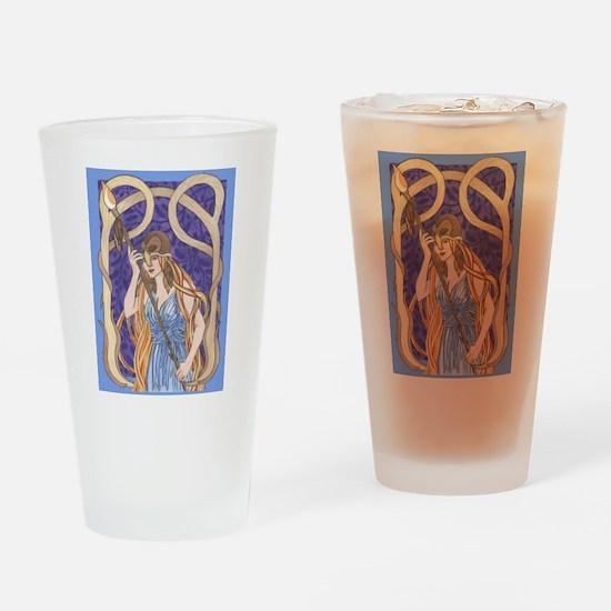 owl eyed athena Drinking Glass