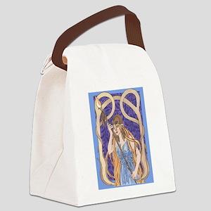 owl eyed athena Canvas Lunch Bag
