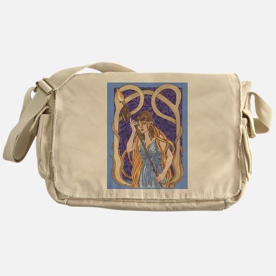 owl eyed athena Messenger Bag