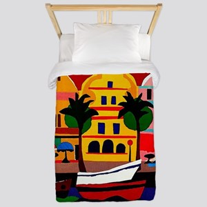 Curacao; Travel Vintage Poster Twin Duvet