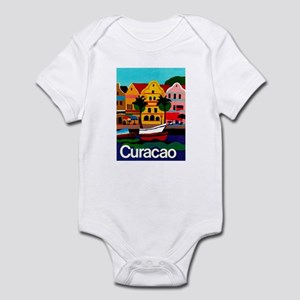 Curacao; Travel Vintage Poster Body Suit