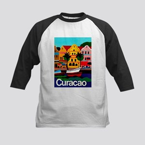 Curacao; Travel Vintage Poster Baseball Jersey