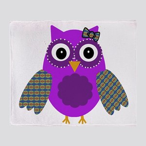 Adorable Owl Throw Blanket