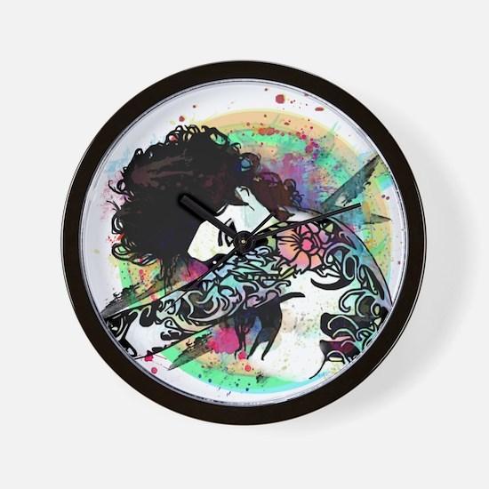 Cute Black woman Wall Clock