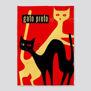 Gatos, Cats, Vintage Poster 5'x7'area Rug
