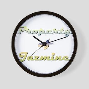 Property Of Jazmine Female Wall Clock