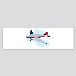 Flying Airplane Bumper Sticker