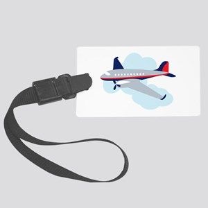 Flying Airplane Luggage Tag