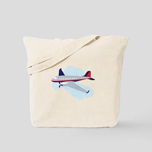 Flying Airplane Tote Bag