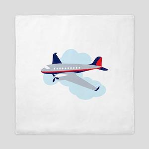 Flying Airplane Queen Duvet
