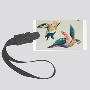 2 HONU IN FLIGHT Large Luggage Tag