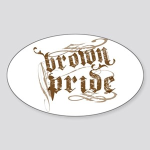 Brown Pride Oval Sticker