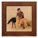 Scottish Deerhound Framed Tile