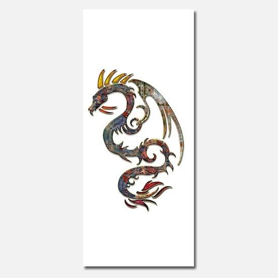 Grunge Metallic Dragon Tattoo Invitations