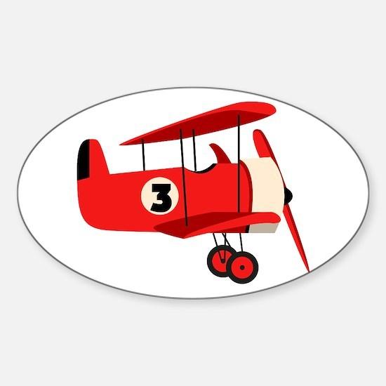 Vintage Airplane Decal