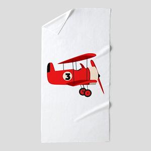 Vintage Airplane Beach Towel