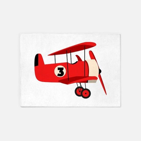 Vintage Airplane 5'x7'Area Rug