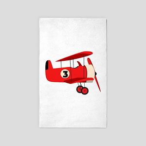 Vintage Airplane 3'x5' Area Rug