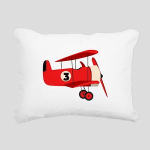 Vintage Airplane Rectangular Canvas Pillow