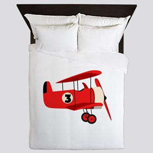 Vintage Airplane Queen Duvet