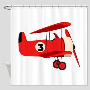 Vintage Airplane Shower Curtain