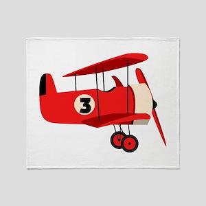 Vintage Airplane Throw Blanket