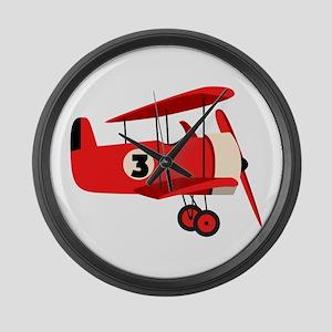Vintage Airplane Large Wall Clock