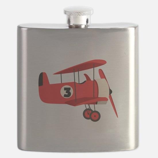 Vintage Airplane Flask