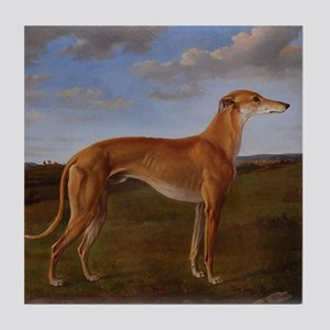 Vintage Greyhound Painting Tile Coaster