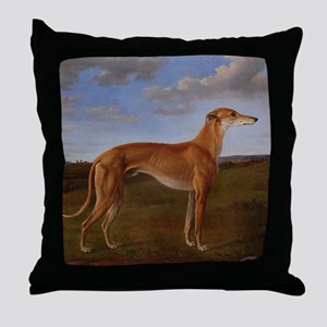 Vintage Greyhound Painting Throw Pillow