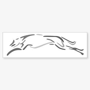 Shades Of Grey Greyhound Bumper Sticker