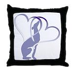 Greyhound Hearts Throw Pillow