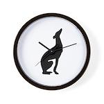 Black Greyhound Wall Clock