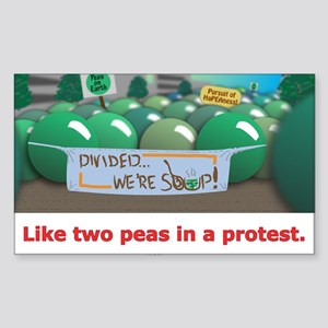 ...in a protest Sticker (Rectangle)