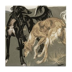 Saluki Pair Tile Coaster