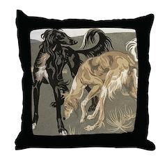 Saluki Pair Throw Pillow