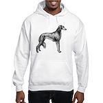 Saluki Silhouette Hooded Sweatshirt