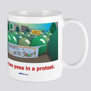 ...in a protest Mug